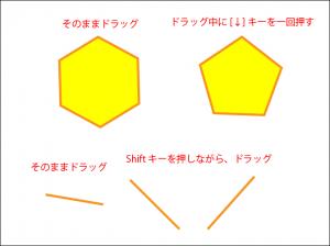 多角形ツールと直線ツール画像2