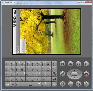 Emulator横向き画面